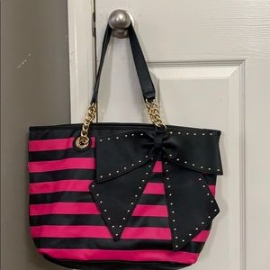 Betsey Johnson Bow-Lette Bow studded Tote
